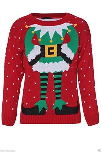 Fun Elf Body Christmas Sweater for Women