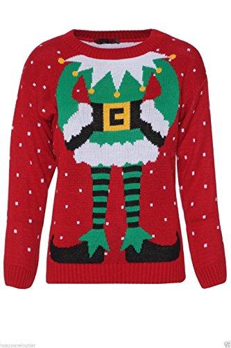 Fun Elf Body Christmas Sweater for Women
