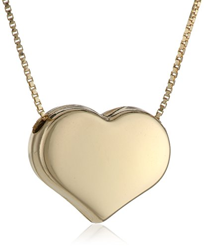 Cute Gold Heart Necklace for Girls