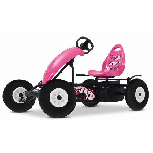 Gorgeous Pink and Black BERG Pedal Go Kart for Girls