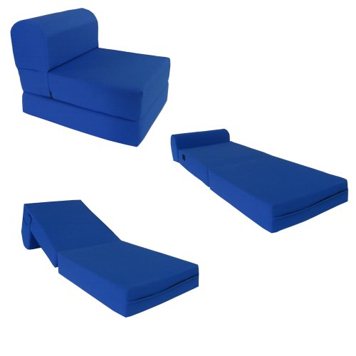Cool and Useful Royal Blue Sleeper Chair for Teens