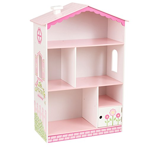 Adorable PINK Dollhouse Cottage Bookcase for Girls