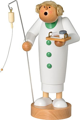 German Incense Smoker Nurse Figurine
