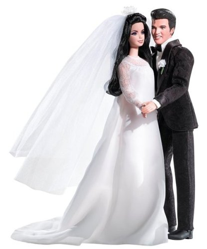 Beautiful Elvis and Priscilla Barbie Dolls