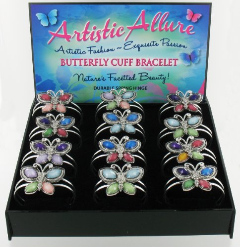 Beautiful Butterfly Cuff Bracelets