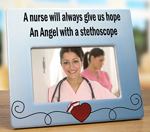 A Nurse Will Always Give Us Hope Ceramic Picture Frame