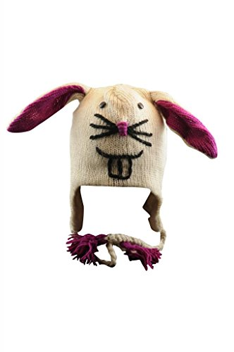 Fun BUNNY RABBIT Wool Hat for Adults