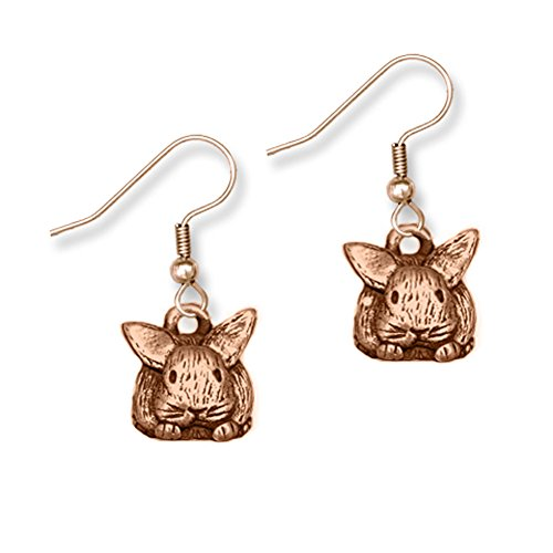 Cute Bronze Bunny Earrings