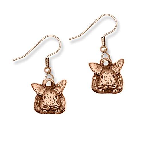 Cute Bronze Bunny Earrings