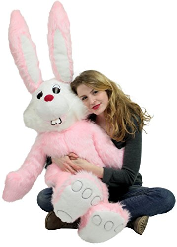 Cute Giant Stuffed Pink Bunny