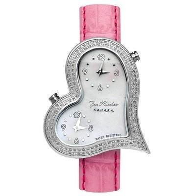 Cute Pink Heart-Shaped Watch