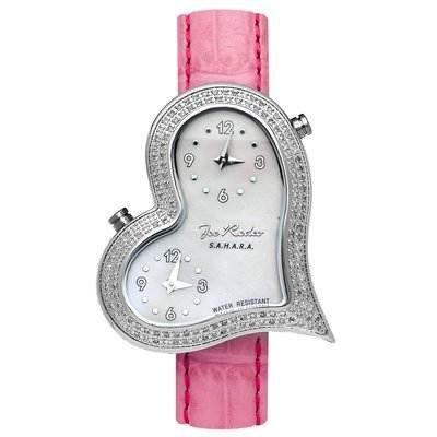 Cute Pink Heart-Shaped Watch