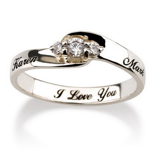 Personalized Engraved Ring for Her