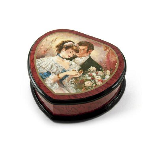 Beautiful Heart Shape Romantic Jewelry Box