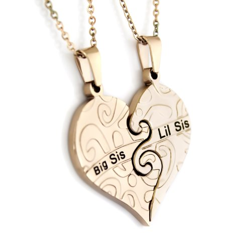 SISTERS HEART NECKLACE