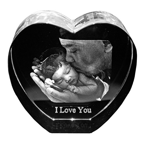 Crystal Heart Personalized Photo Frame