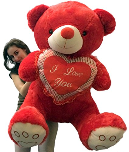 Giant Soft Valentine RED Teddy Bear