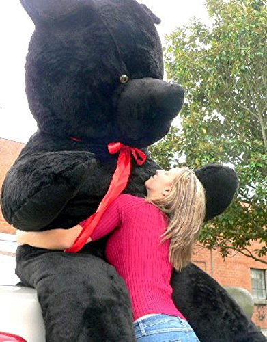 Giant Black Teddy Bear 96 Inches