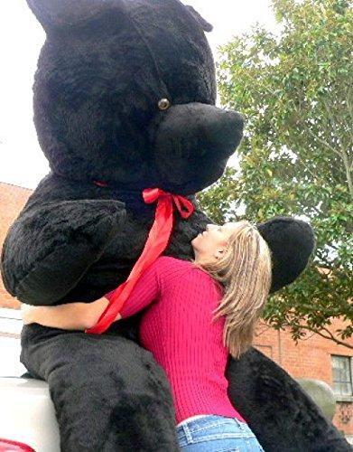 Giant Black Teddy Bear 96 Inches