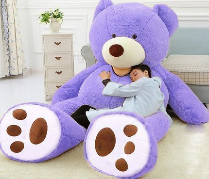 Gigantic Purple Teddy Bear