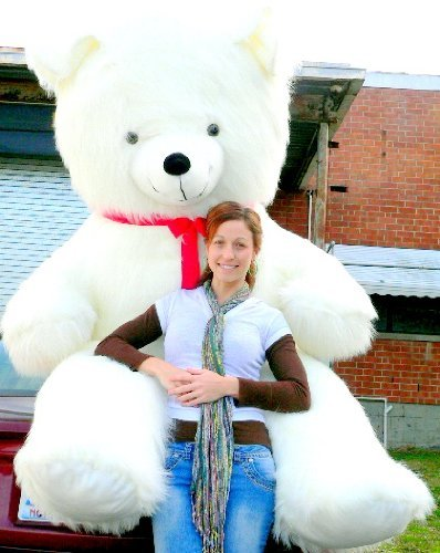 8 Feet WHITE Teddy Bear