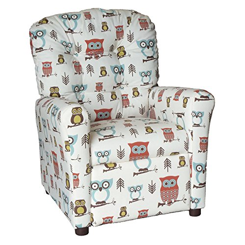 Cute Owl Design Recliner for Kids