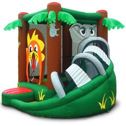 Safari Bounce House With Slide
