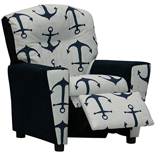 Beautiful Navy Blue Kid's Recliner