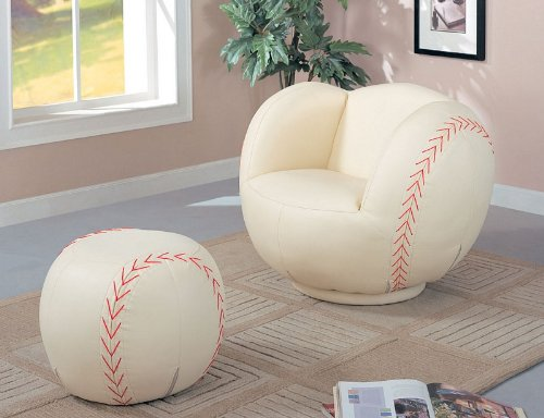 Cute Baseball Chair and Ottoman