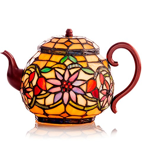 Stained Glass Teapot Accent Lamp