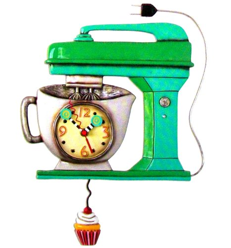 Vintage Mixer Green Mixer Kitchen Wall Clock