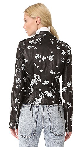 Floral Lambskin Leather Jacket