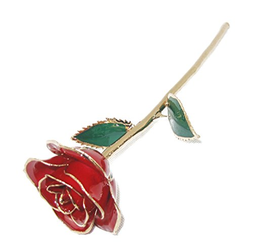 Real Red Rose Plated in Gold