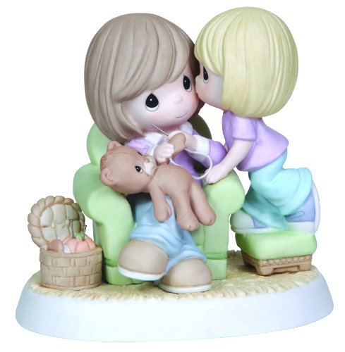 Adorable Mother and Daughter Figurine