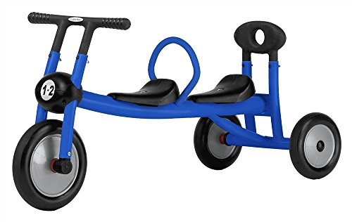 Blue Walker 2 seats No Pedals Trike for Toddlers