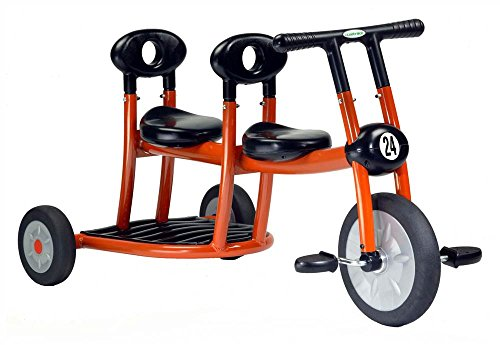 Double Seat Tricycle for Toddlers