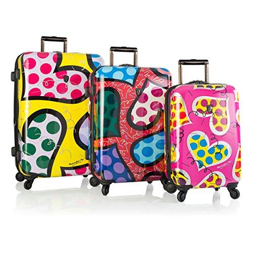Fun Heart Print Suitcases