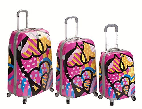 Cute Pink Heart Suitcases for Teen Girls