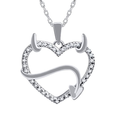 Devil Heart Diamond Pendant