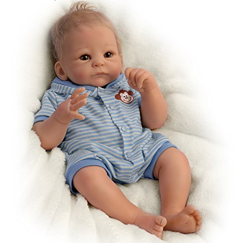 Realistic Weighted Newborn Baby Boy Doll 17-inches