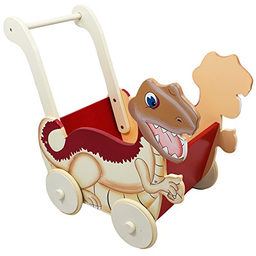 Cute Wooden Dinosaur Push Toy for Toddlers