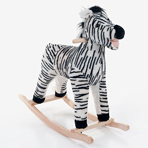 cute plush zebra rocker